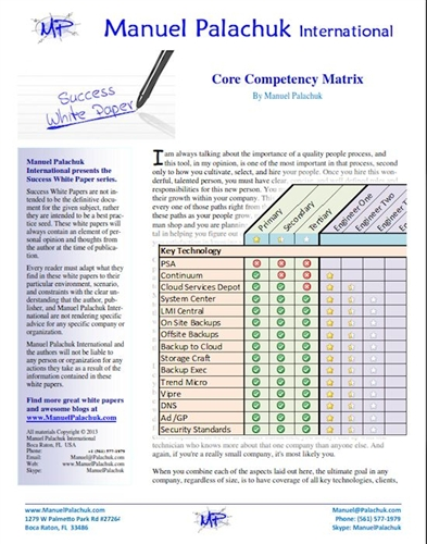 Core Competency Matrix