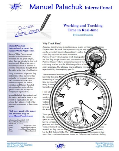 Working and Tracking Time in Real-Time Whitepaper